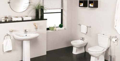 <b>Sanitaryware and CP Fittings.</b><br/>Our collection of sanitaryware includes wash basins, water closets, automated fittings, bath tubs, shower panels, bath enclosures, jaccuzzi.